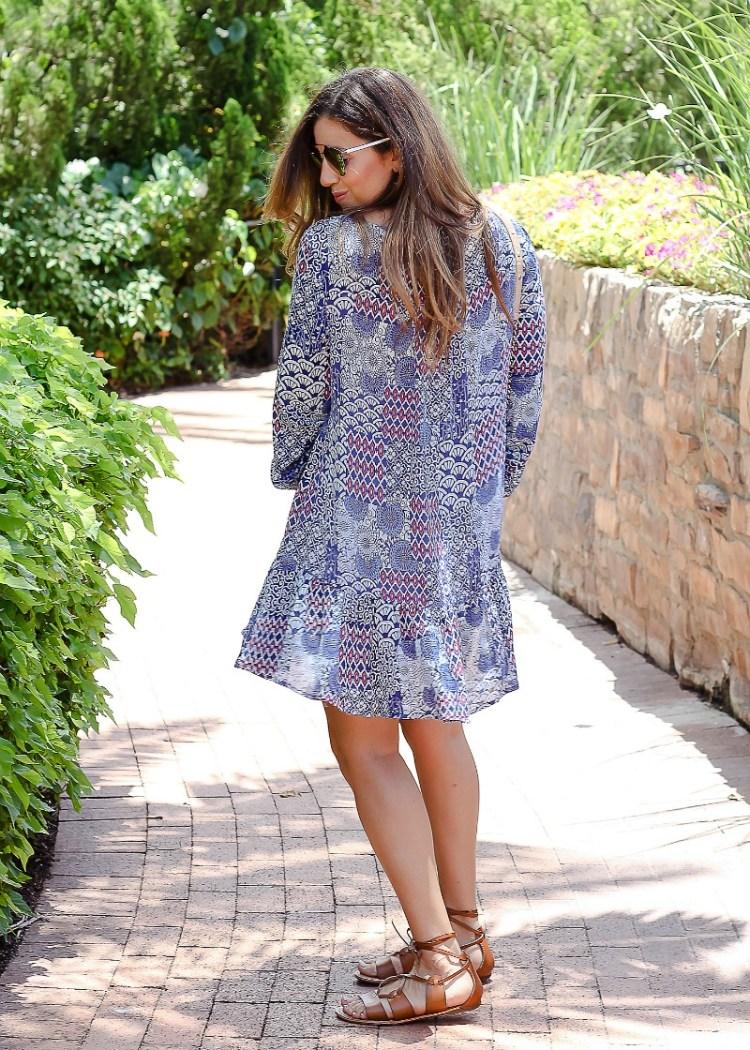 asos swing dress floral print