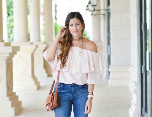 Chicwish pink off shoulder top