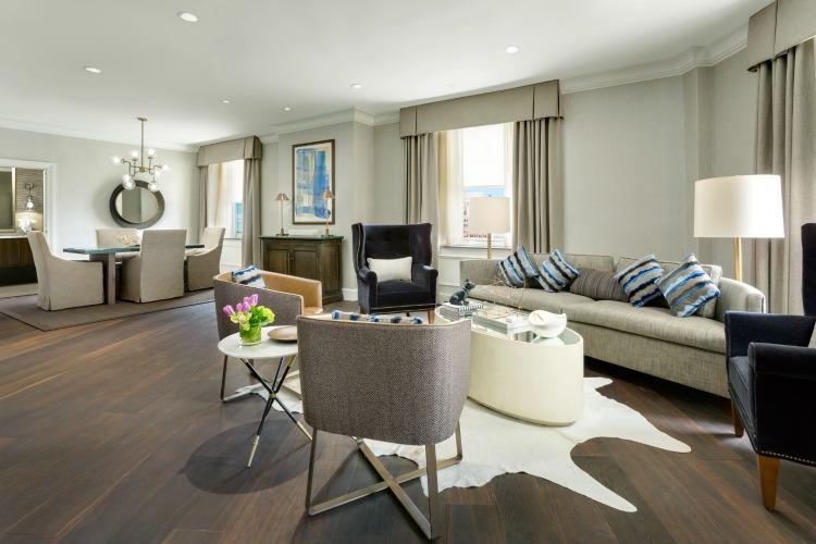 Boston Park Plaza hotel Presidential Suite living room