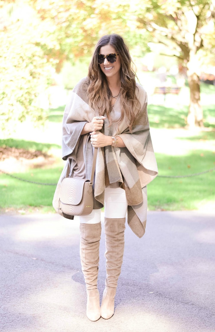 Best way to wear white jeans in the fall and winter, Jaime Cittadino of Sunflowers and Stilettos blog