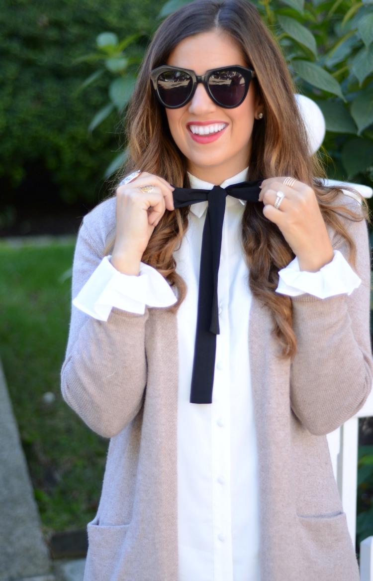 Bow Shirtdress with Ruffles, Tularosa shirtdress