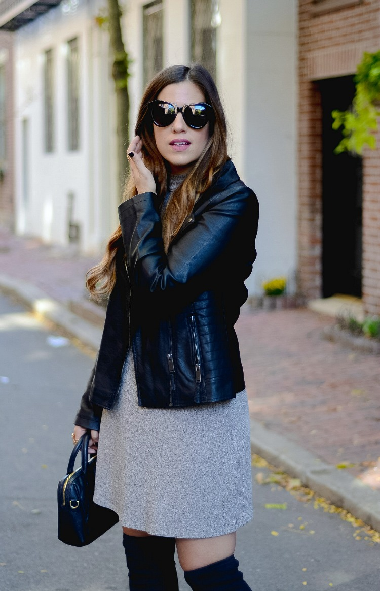 Biker Jacket styled with a dress