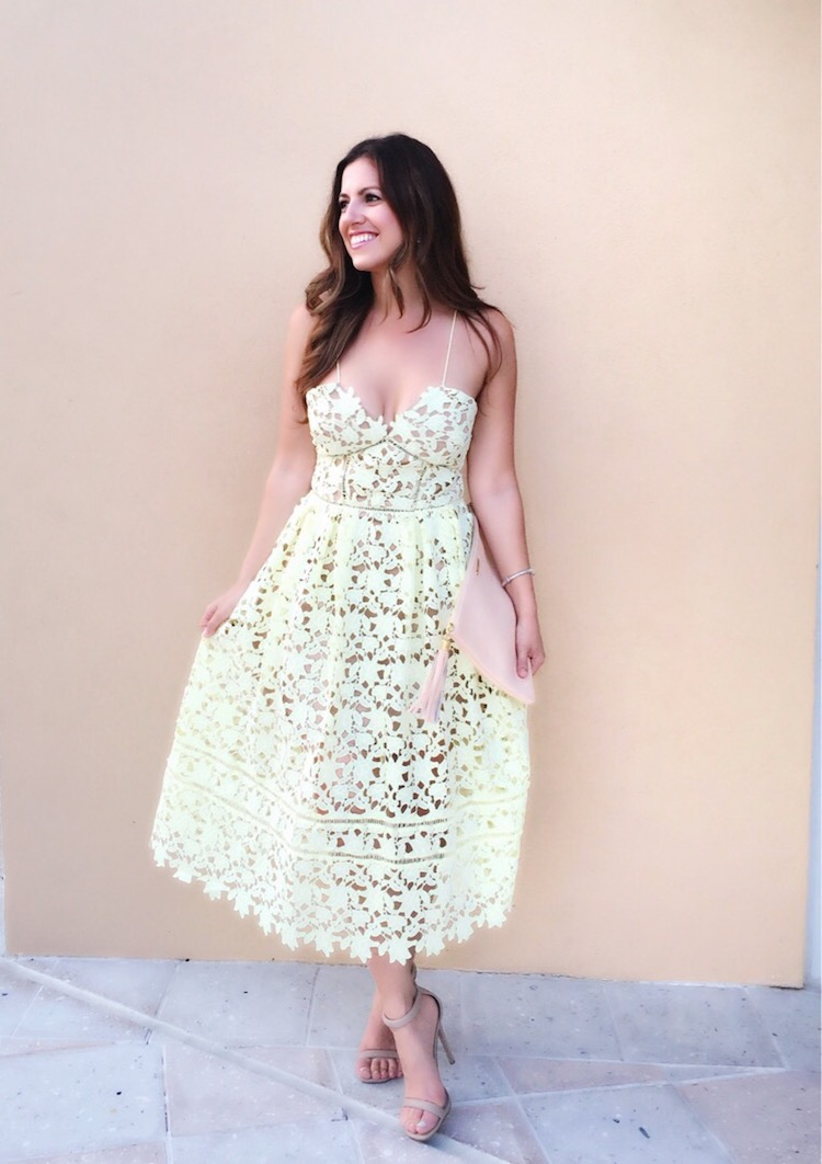 80b35cce8f1 Get The Look For Less  Self Portrait Azalea Dress - Sunflowers and ...