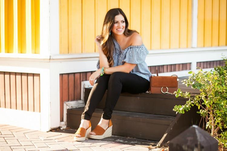 Topshop gingham top worn by Florida fashion blogger, Jaime Cittadino