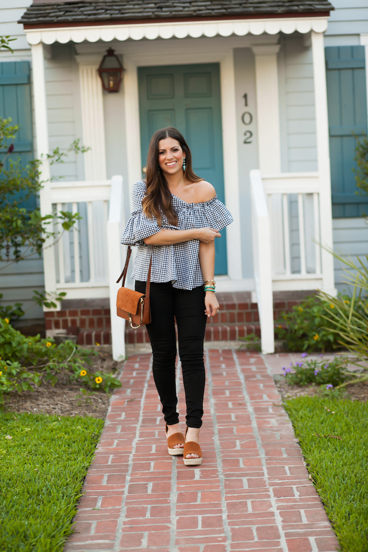 Asymmetrical Gingham Top