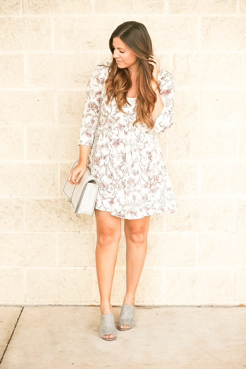 Babydoll Dress + Mules, Grey Mules