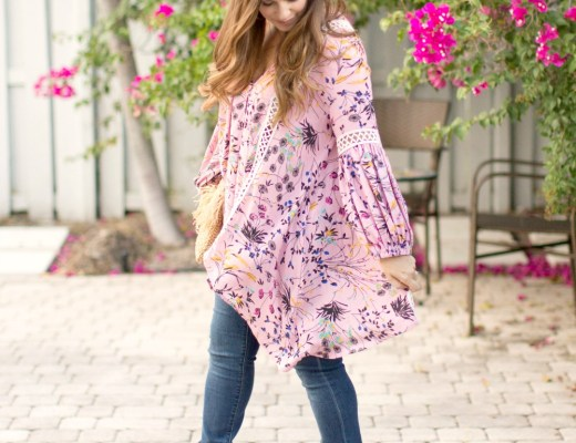 Chicwish pink flowy tunic top_ Fashion Blogger Style_ Sunflowers and Stilettos Fashion Blog