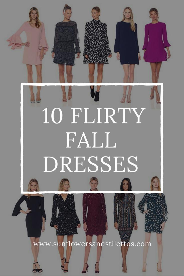Fall Dresses _ Flirty Fall Dresses _ Floral Fall Dresse _ Flutter Sleeve Dress