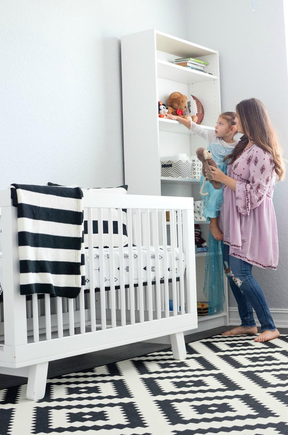 Ikea black white rug _ best nursery rug _ black and white nursery decor
