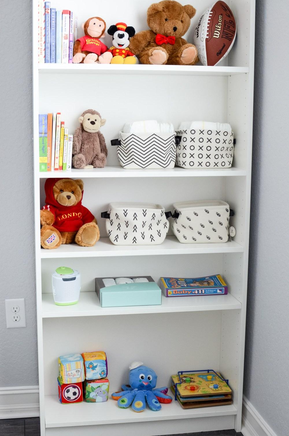nursery decor, nursery ideas, nursery shelving