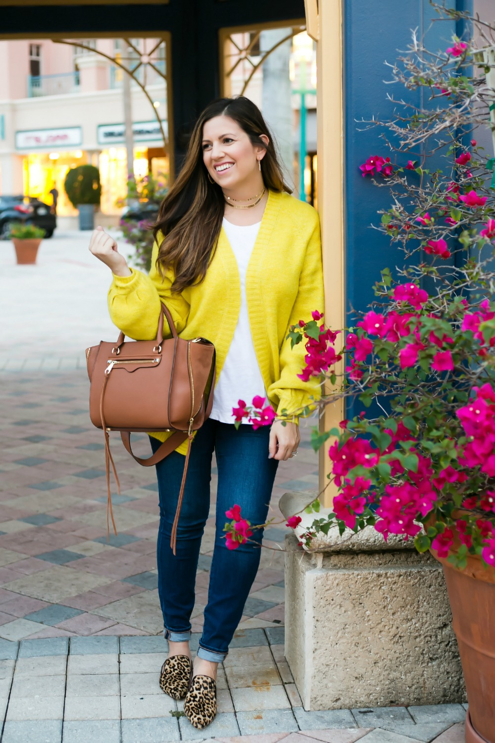 casual chic Fall outfit _ Mizner Park Boca Raton _ Florida Fashion Blogger Jaime Cittadino of Sunflowers and Stilettos