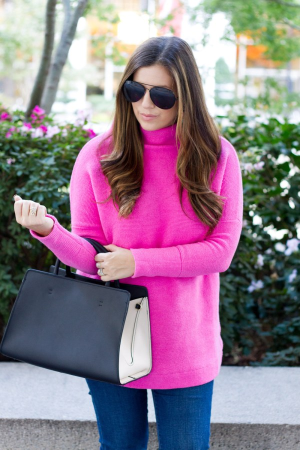 Bright Pink Sweater Leopard Flats Sunflowers And Stilettos