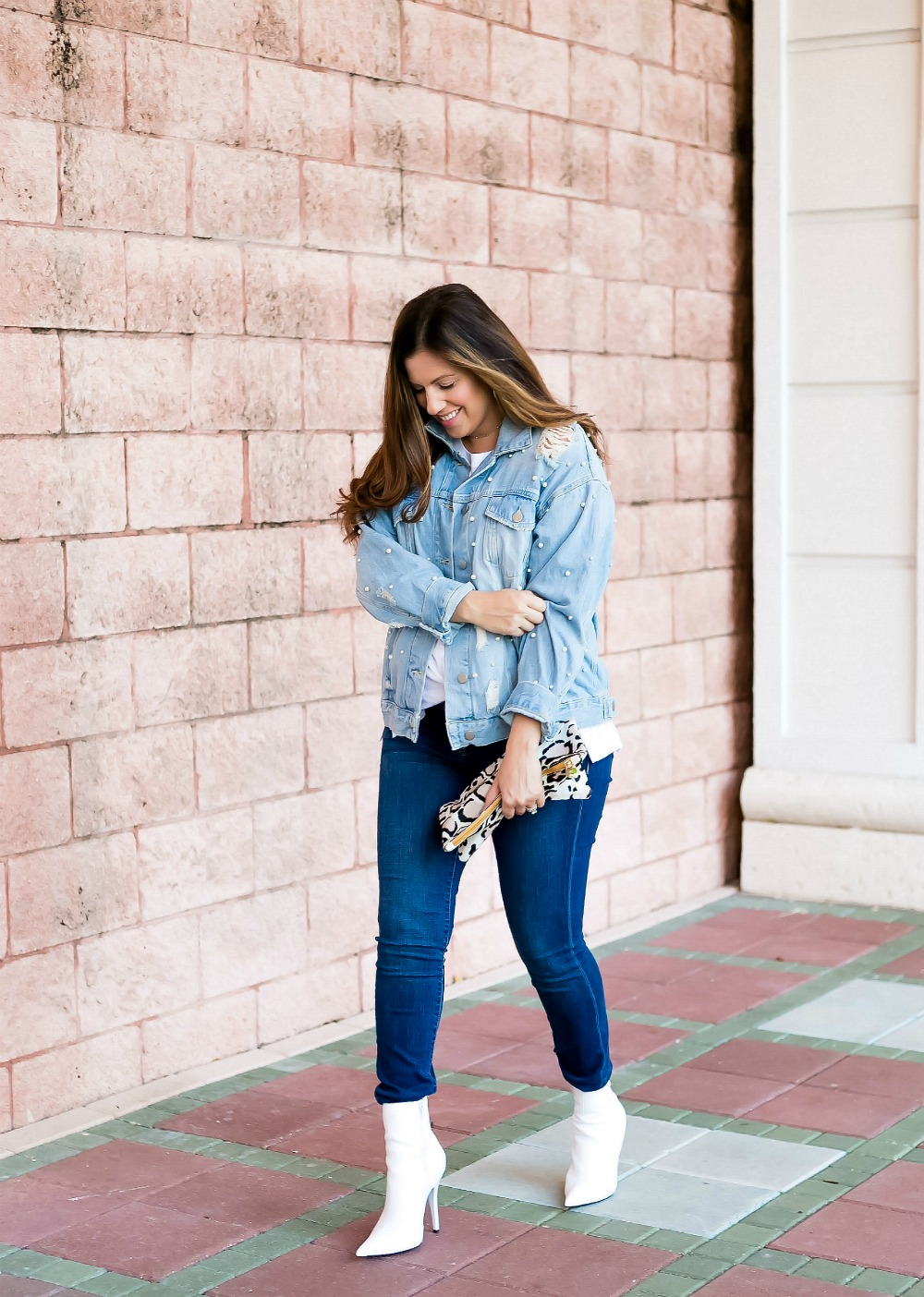 denim on denim outfit_ Florida Fashion Blogger Jaime Cittadino