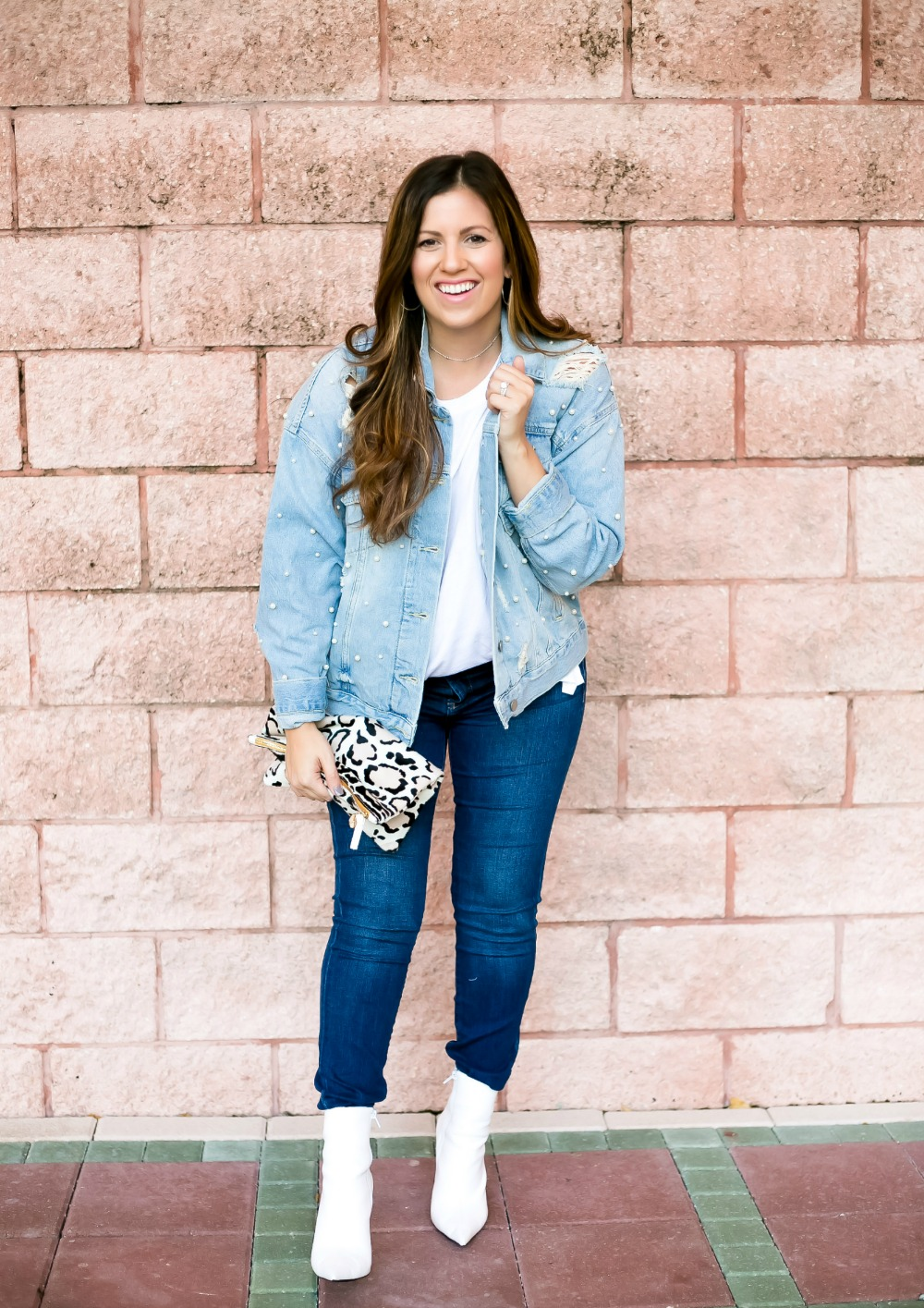 how to wear white booties this fall by Jaime Cittadino of Sunflowers and Stilettos blog