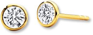 Jared Yellow Gold Diamond Earrings
