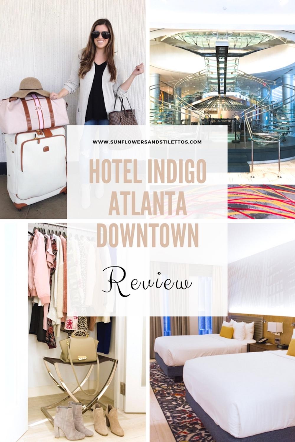 HOTEL INDIGO ATLANTA DOWNTOWN REVIEW, Sunflowers and Stilettos blog, travel blog