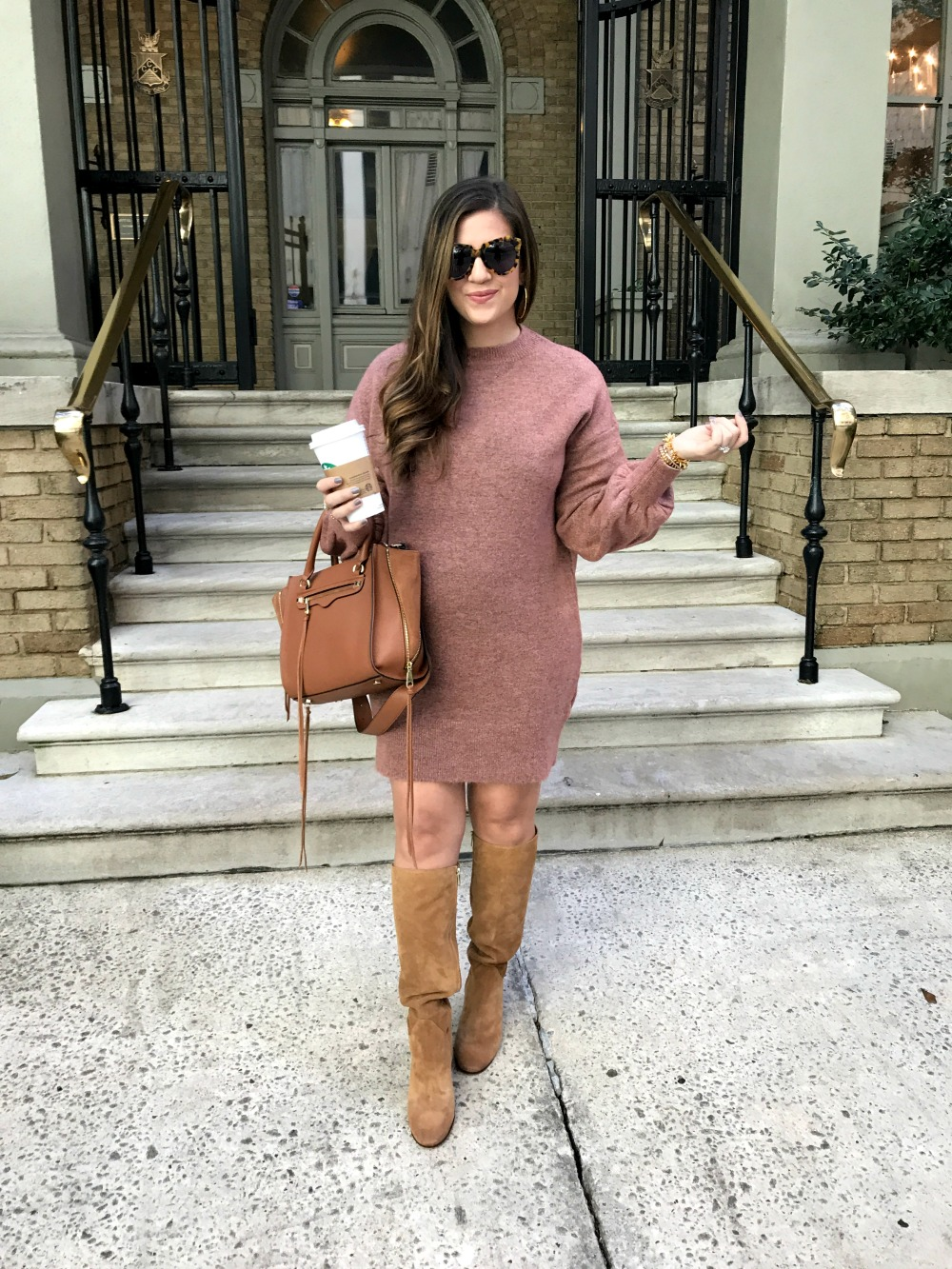 Topshop Sweater Dress _ Tall Boots _ Fall Style