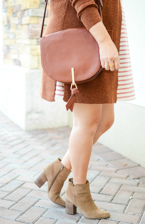 Cognac Saddle Bag, Vera Bradley leather saddle bag, Vera Bradley Carson Saddle Bag