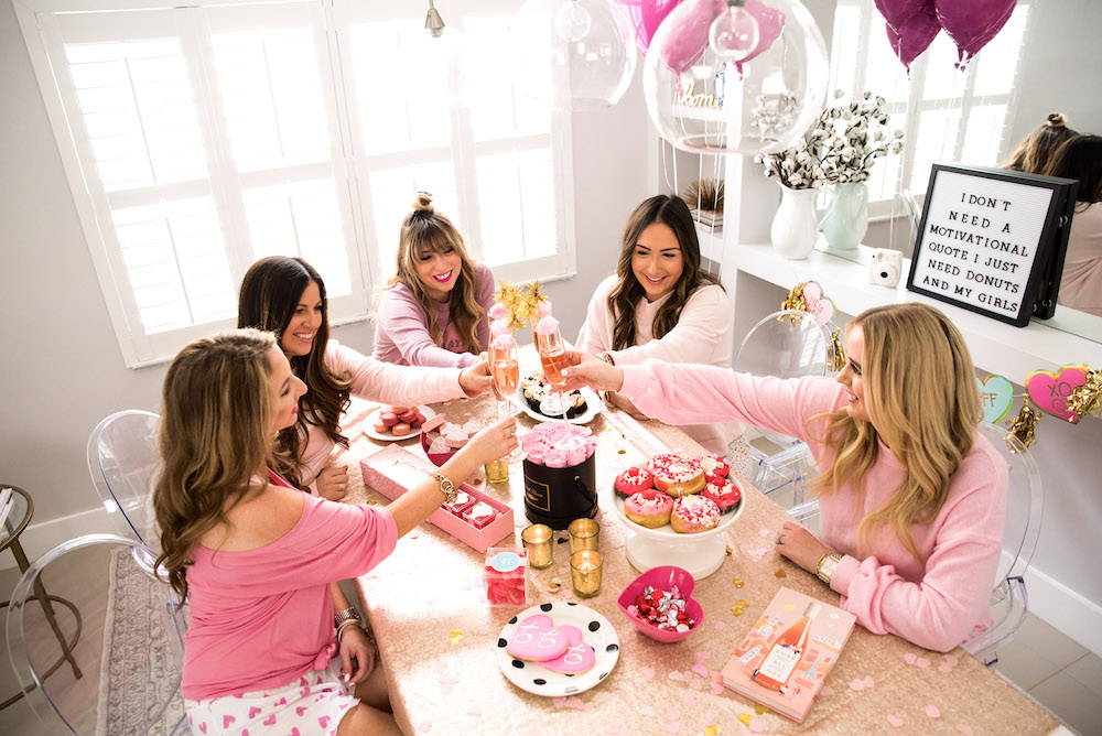 Galentine's Day themed brunch, Valentine's Day brunch