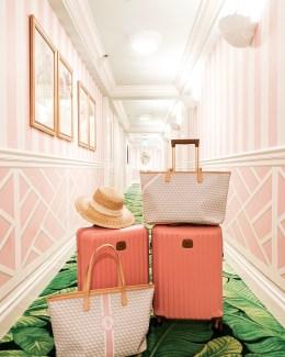 Colony Palm Beach Pink Hallway - banana leaf hallway