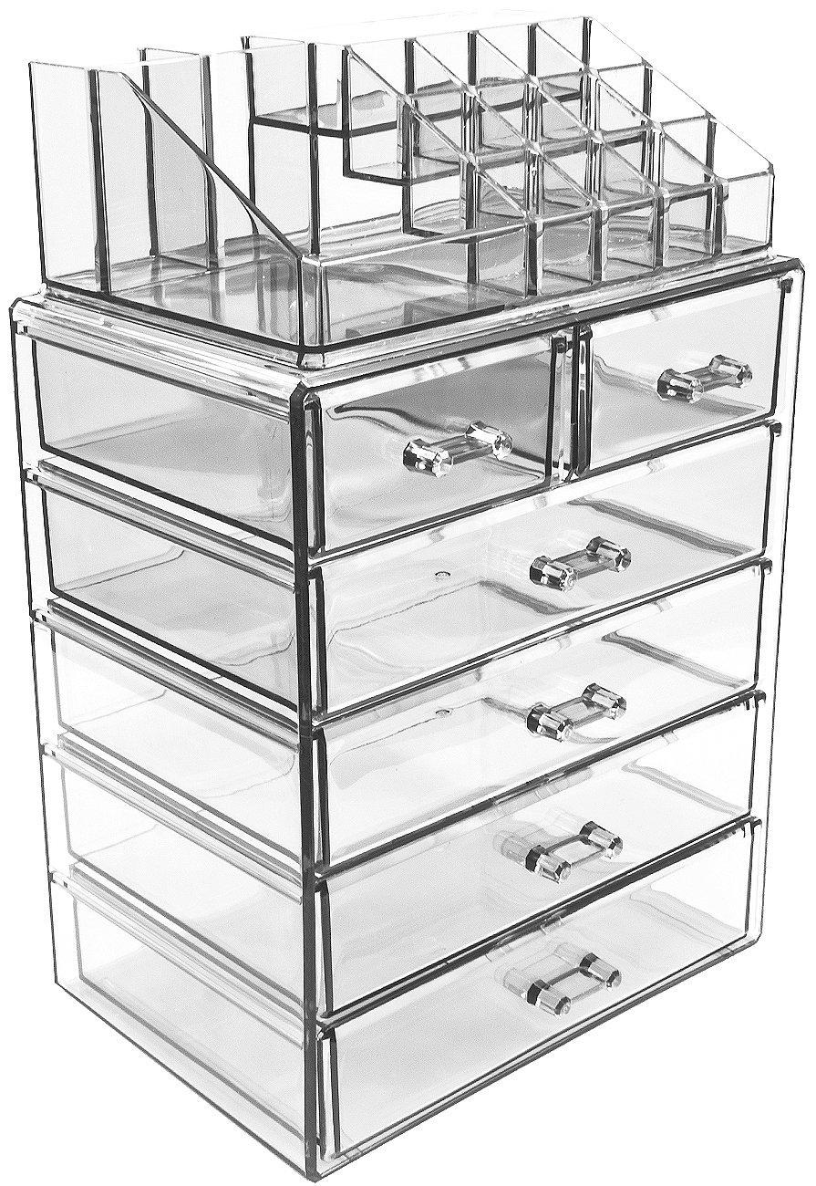 acrylic cosmetic storage case, makeup organizer