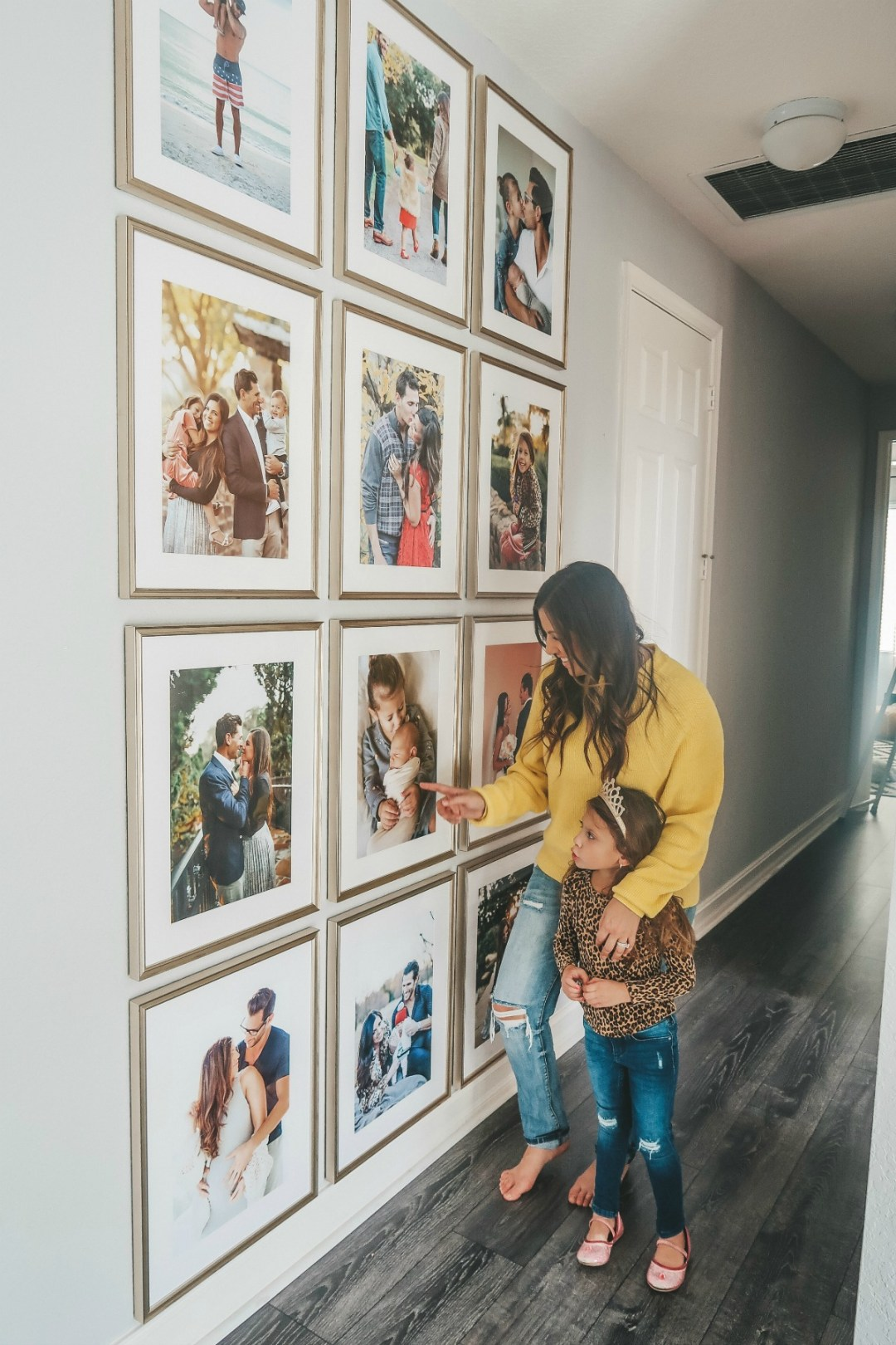 floor to ceiling gallery wall, how to hang a gallery wall, Sunflowers and Stilettos fashion and lifestyle blog by Jaime Cittadino, Florida Lifestyle Blogger