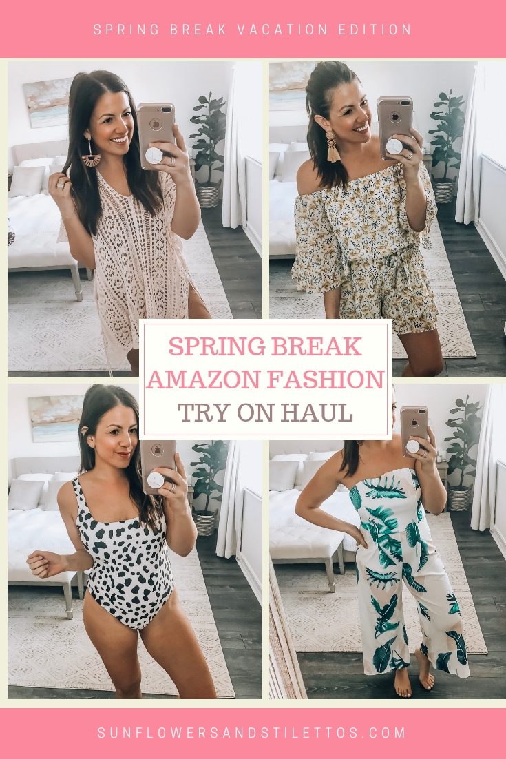 Spring Break Amazon Fashion Haul, March Amazon Fashion Haul, Amazon Swimsuit