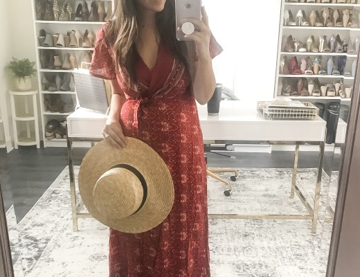 boho red wrap maxi dress, Amazon Fashion boho maxi dress
