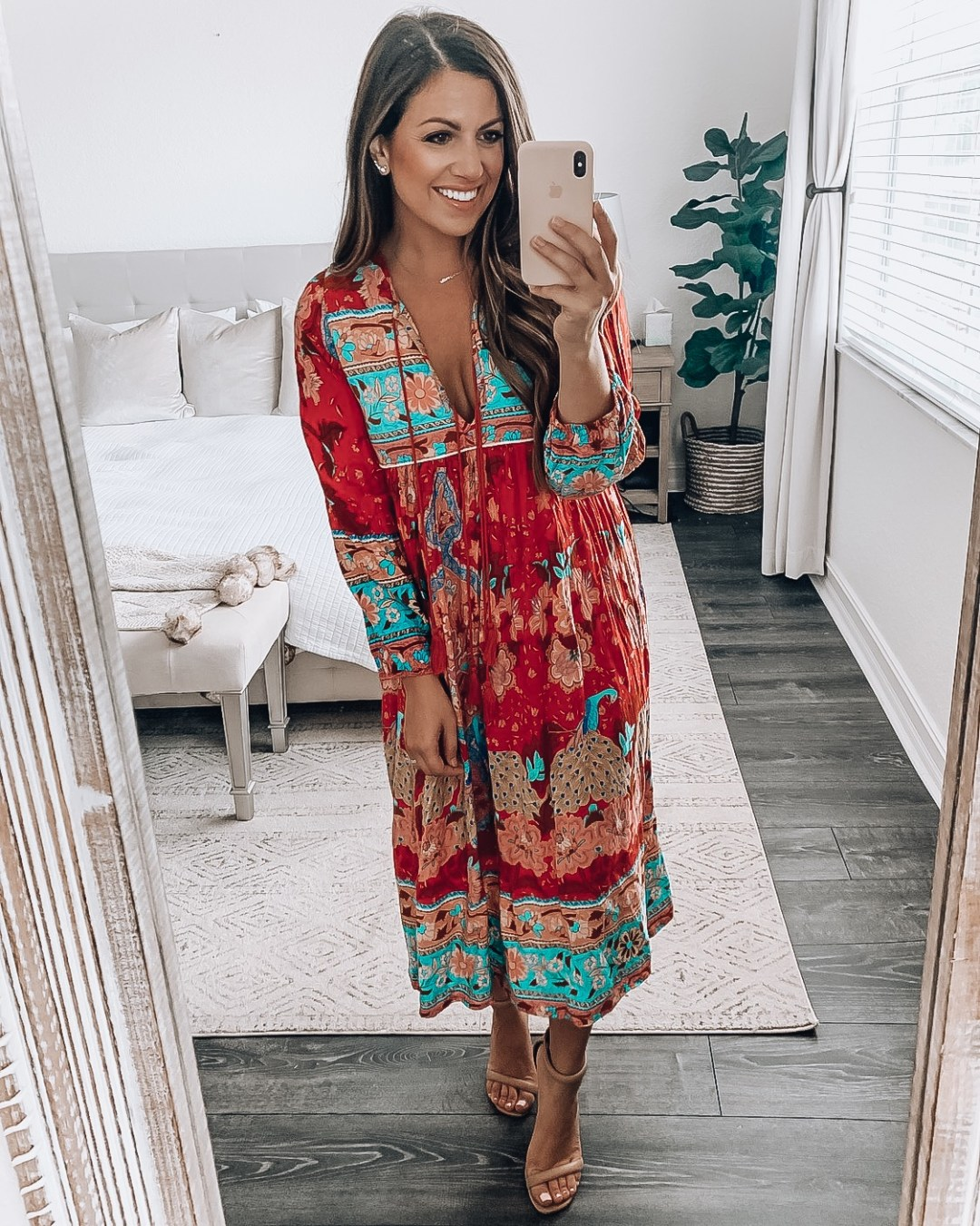 Amazon Fashion boho dress, bohemian style maxi dress
