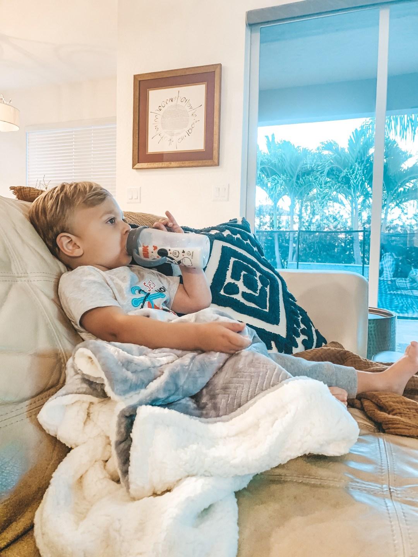 Parents Choice blanket, chevron baby blanket