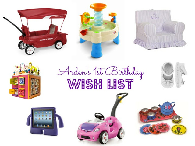 1st Birthday Wish List