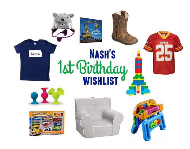 Nash's 1st Birthday Wishlist