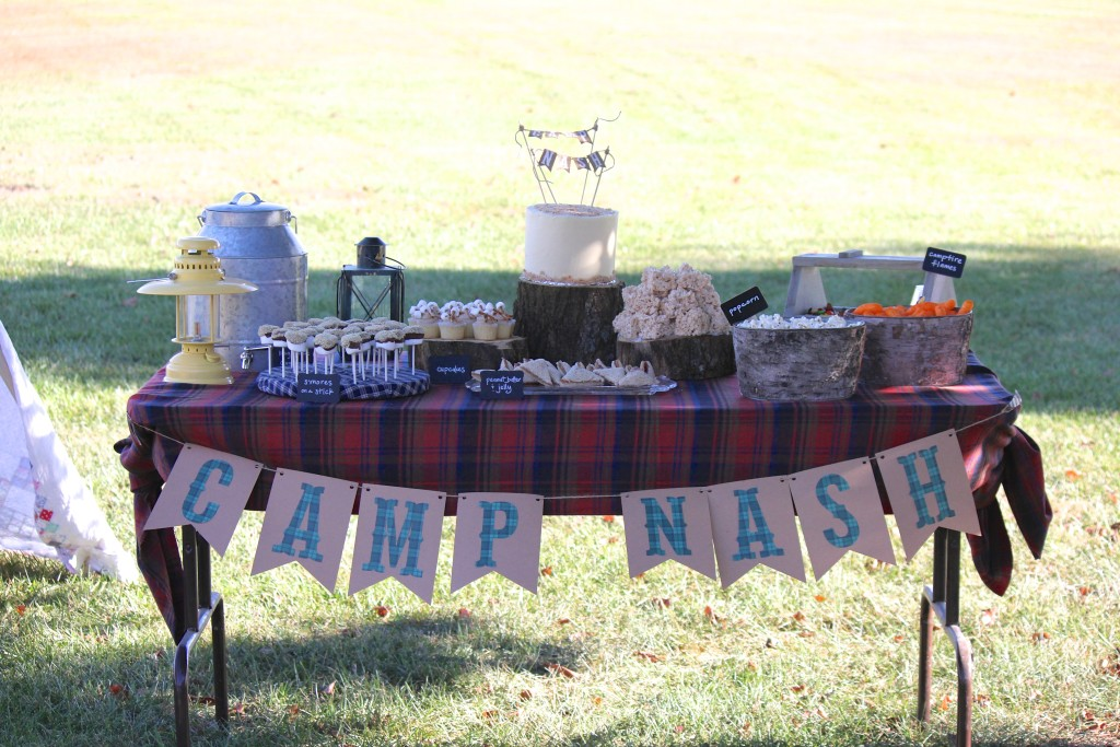 Camping themes 1st birthday party