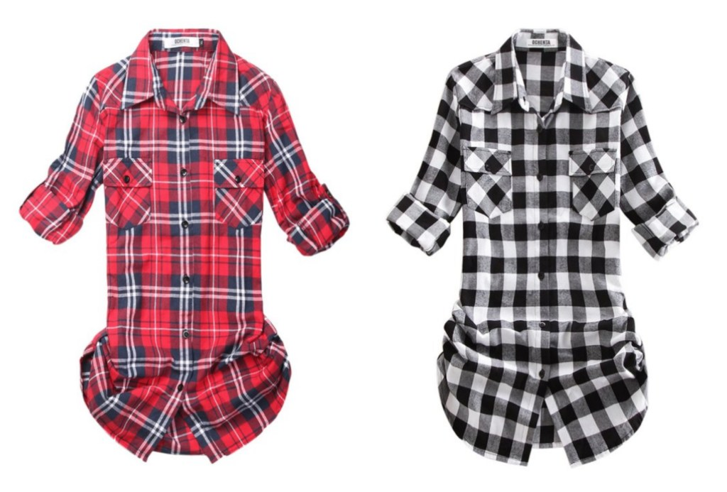 plaid women's shirts