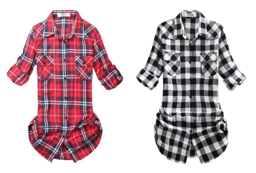 plaid women's shirts
