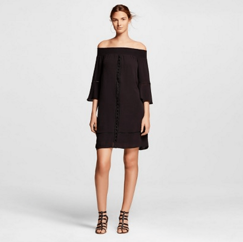 Mossimo off the shoulder black dress