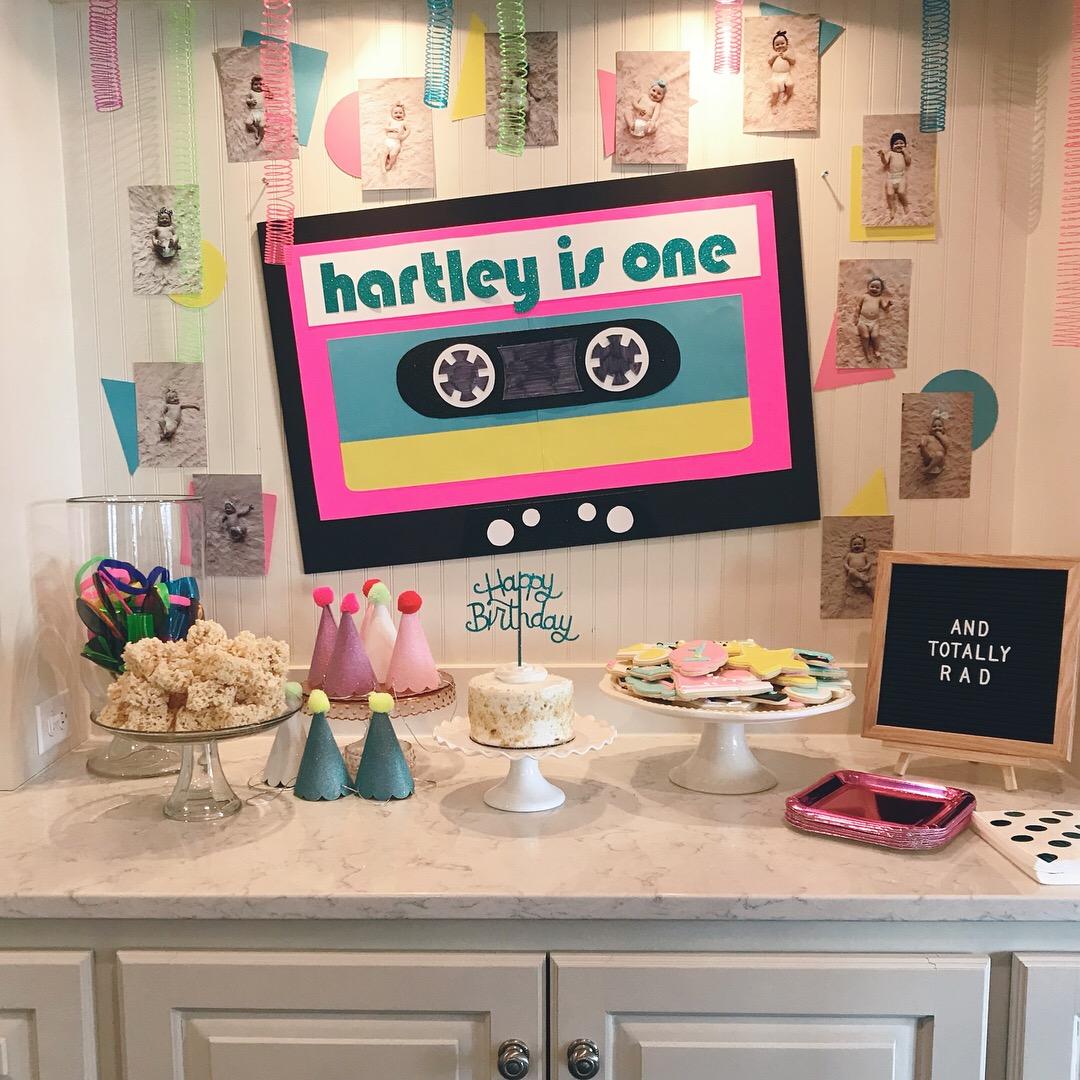Hartley's 1st Birthday…80's Style!