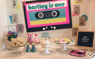 Hartley's 1st Birthday…80's Style!