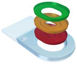 [Illustration de kit pour toilettes avec ses trois anneaux de couleur]