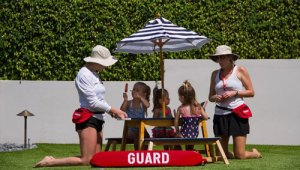 SunFun Activities Pool Party Lifeguarding with Emily and Kelsey Stamile