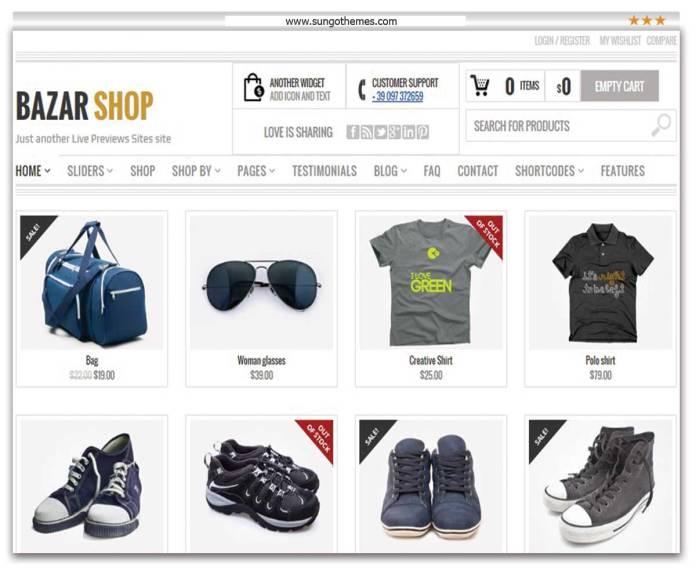 Bazar Shop - Multipurpose e-Commerce Theme