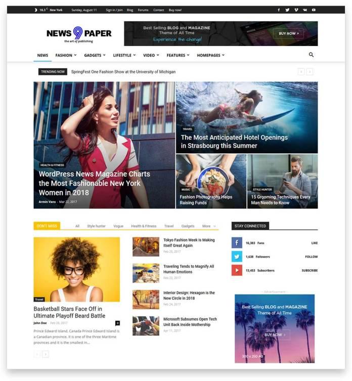 Newspaper- multipurpose New/Blog/ Magazine theme