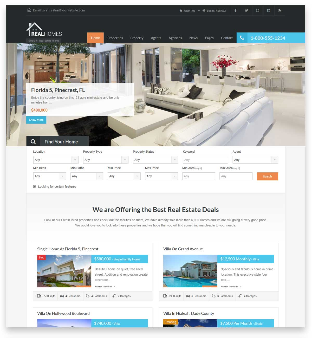 RealHomes - Estate Sale and Rental WordPress Theme