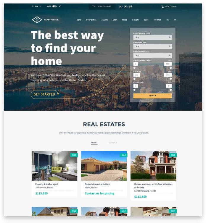 Realtyspace - Real estate WordPress Theme is fantastic property website theme