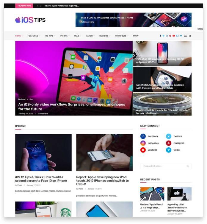 Soledad - Multi-Concept Blog Magazine WordPress Theme one of the popular blog magazine themes