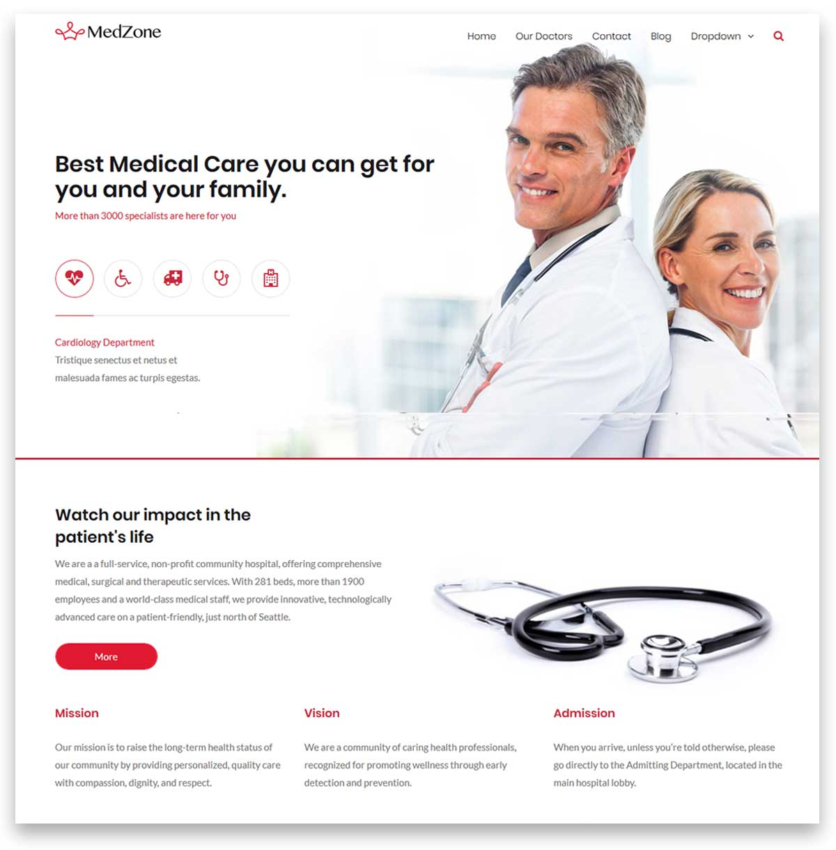 MedZone PRO - Medical WordPress Theme