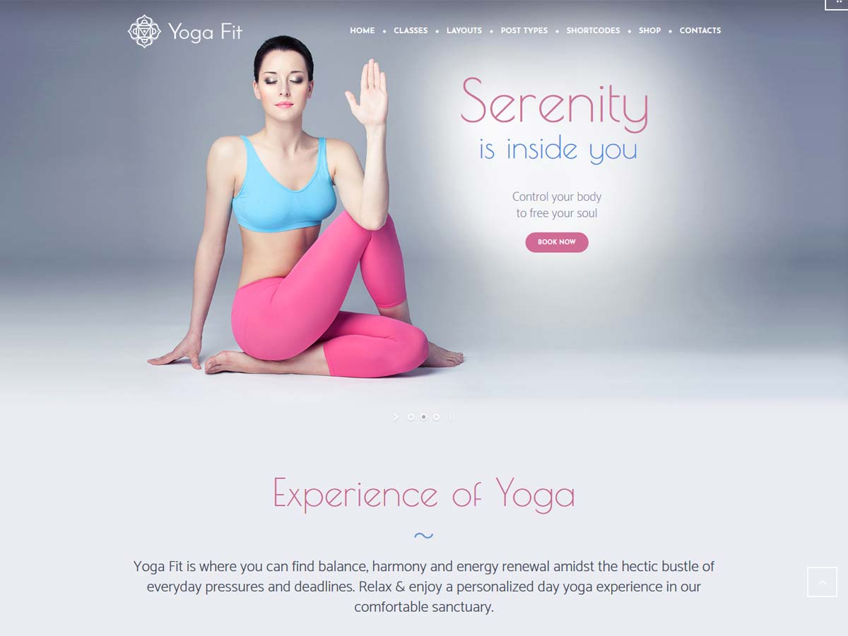 Yoga Fit - Sports, Fitness & Gym WordPress Theme help you build a sports, gym and fitness-appropriate website.