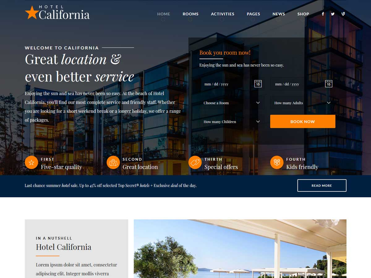 california-resort-hotel-theme