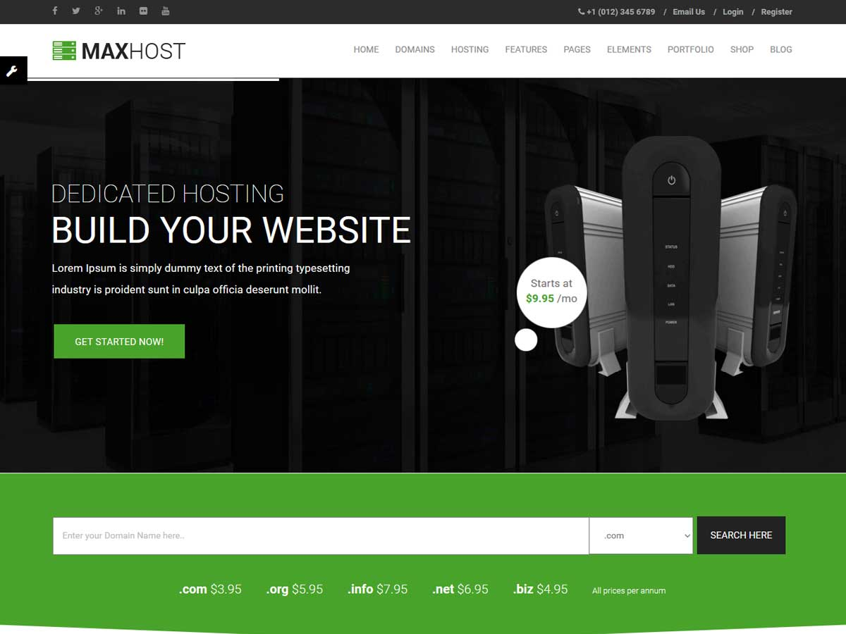 MaxHost WordPress Theme is a great hosting provider theme
