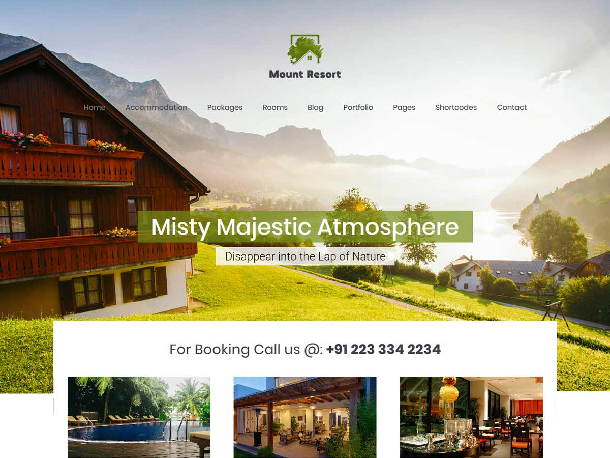 Mount Hotel Resort WordPress theme